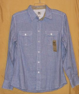 paper denim cloth mens plaid ls button shirt $ 58