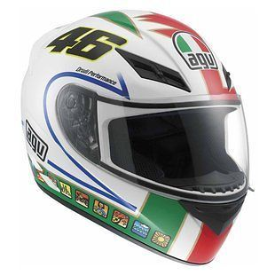 New 2013 AGV K3 Icon 46 Motorcycle Helmet ALL SIZES DOT FREE VISOR