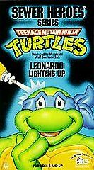 Teenage Mutant Ninja Turtles   Leonardo Lightens Up VHS, 1991