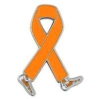 Awareness Month is September Orange Ribbon Walking Legs Lapel Pin New