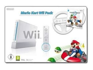 nintendo wii mario kart pack white console pal time left