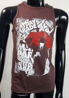 Mayday Parade Fearless Red Umbrella Alternative Rock Tank Top Tee