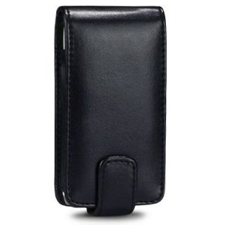 Black Leather Flip Case for Nokia 700 Vertical Pouch Cover