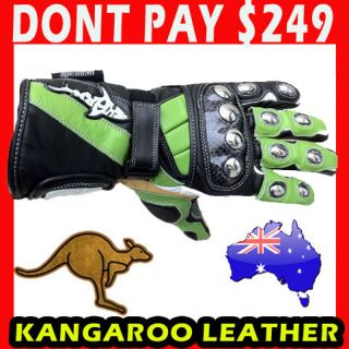 Shark TPSG Extreme Kangaroo Leather Motorcycle Road Race Gloves