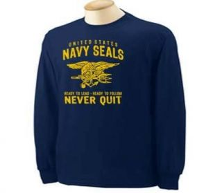 United States Navy Seals Military Patriotic Long Sleeve T Shirt
