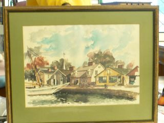 bu seaport street mystic conn paul n norton water color
