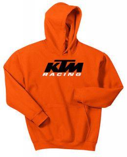 ORANGE KTM RACING HOODIE SWEAT SHIRT BLACK WHITE MX MOTOCROSS SWEAT