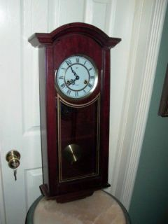 ic 31 day wood wall chime clock time left $