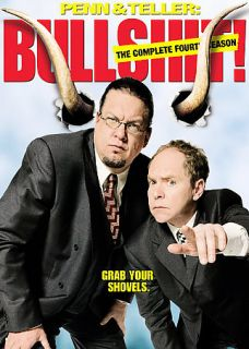 Penn Teller Bullshit   The Complete Fourth Season DVD, 2007, 3 Disc