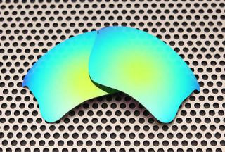 Polarized Emerald Green Replacement Lenses for Oakley Flak Jacket XLJ