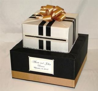 elegant custom made wedding card box rhinestone accents time left