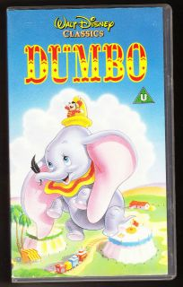 DISNEY   DUMBO   VHS PAL (UK) VIDEO   AUTHENTIC HOLOGRAMS