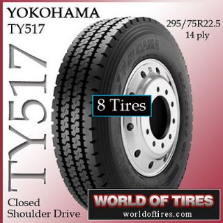 tires Yokohama TY517 295/75R22.5 semi truck tires 22.5lp 225lp 295 75