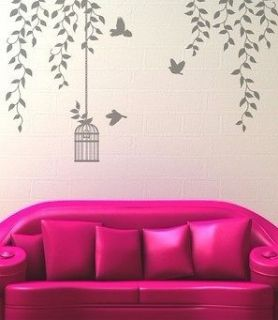 Removable Bird Birdcage Wall Sticker Art Mural Decal Deco Vinyl Decor