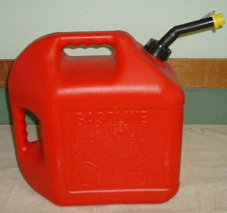 vintage 2 handle blitz 5 gallon gas can w spout