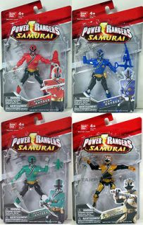 POWER RANGERS SAMURAI FIRE WATER LIGHT FOREST 4 FIGURES red blue green