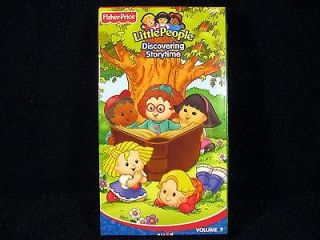 NEW Fisher Price Little People VHS Tape DISCOVERING STORYTIME Volume 9
