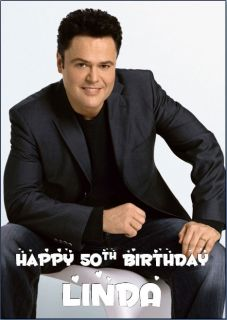 donny osmond personalised birthday card a5  5