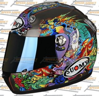 Suomy Vandal Tattoo Flash Full Face Motorcycle Helmet Large
