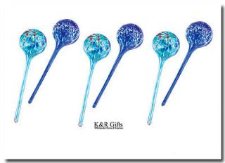 plants set of 6 glass plant watering globe stakes new