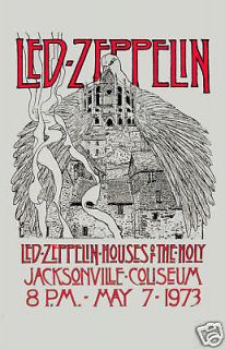 Robert Plant, Jimmy Page Led Zeppelin Houses Of Holy Florida Concert