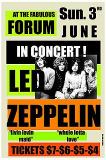 Robert Plant & Jimmy Page Led Zeppelin at Los Angeles Forum Concert