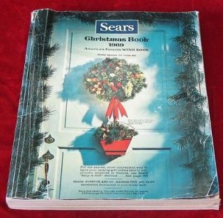 vintage 1969  roebuck co wishbook christmas catalog time left
