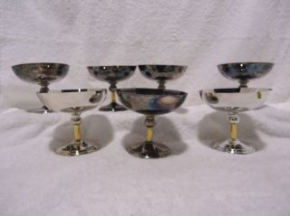 Lot of 7 Pedestal Bowls By F.B. Rogers Silver Company, Tarnished