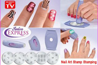 Salon Express Nail Art Stamp Stamping Polish Nail DIY Design Kit