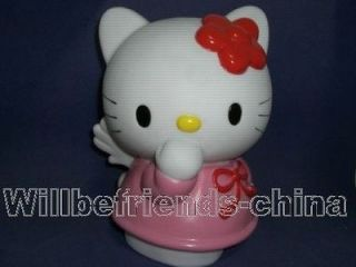 Kitty Cat Angel Figure Save Money Box Coin Piggy Bank Jar Decoration
