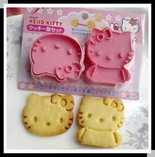 High Quality Pink Hello Kitty Cookie Cake Cheese Cutter Stamp Mold