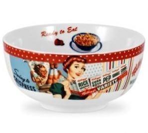 New PORTMEIRION Vintage Kelloggs retro advertising 6 cereal bowl