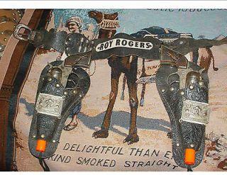 roy rogers leather holster rare version w seldom seen guns