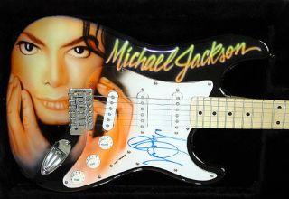 MICHAEL JACKSON Autograph AIRBRUSH Signed Guitar PSA/DNA UACC RD COA
