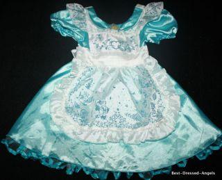 Deluxe Alice IN WONDERLAND Costume Dress Halloween Girls