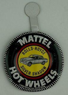 719 Original 1969 Hot Wheels Pin Badge ROLLS ROYCE SILVER SHADOW