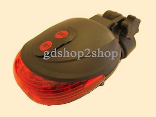 Latest Bicycle Bike Cycling Led Red Laser Beam Tail Rear Safety Flash