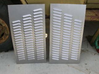 pair louvered hood panels rat rod gasser 114 louvers time
