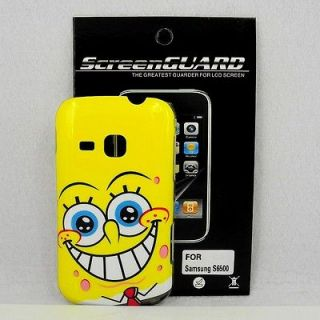 Samsung Galaxy Mini 2 S6500 SpongeBob Case #A + Screen Protector