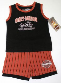 Harley Davidson Toddler Boy Tank Top & Shorts Set   T Shirt   Kids