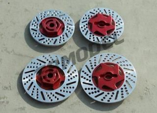 CML RC 1/10 On Road Car Dummy Aluminum Brake Discs for Tamiya HPI Red