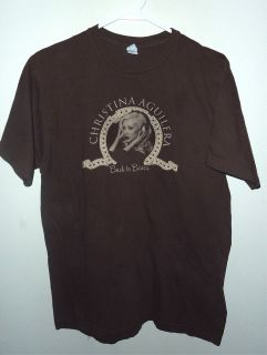 2006 vintage Christina Aguilera Back To Basics concert tour shirt L