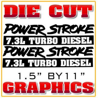 New 7.3 Ford Powerstroke Window Decal Turbo Diesel Graphic Sticker