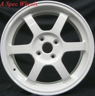 ROTA GRID 4X100 +40 WHITE WHEEL FITS MIATA FIT XB YARIS CIVIC JETTA XA