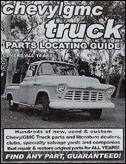 Find Chevy Pickup Truck PARTS with book 1948 1949 1950 1951 1952 1953