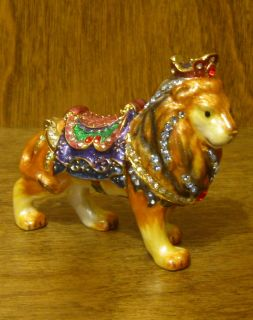 Trinket Box #TJ1168 CAROUSEL LION, Mint/Box NEW from our Retail Store