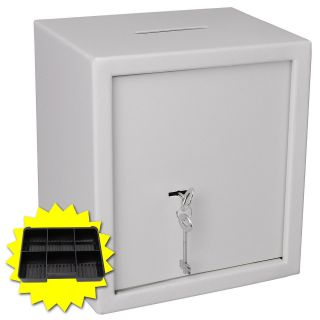 Lock Key Slot Depository Safe Cash Box Cabinet Home Security