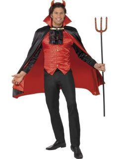 Adult Mens Devil Lord Halloween Smiffys Fancy Dress Costume
