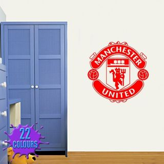 Man Utd Badge   Wall Decal Art Stickers football sport bedroom nursery