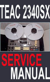 teac a 2340sx a2340sx reel to reel service manual booklet
